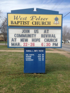 Church Sign Revival Message 2015